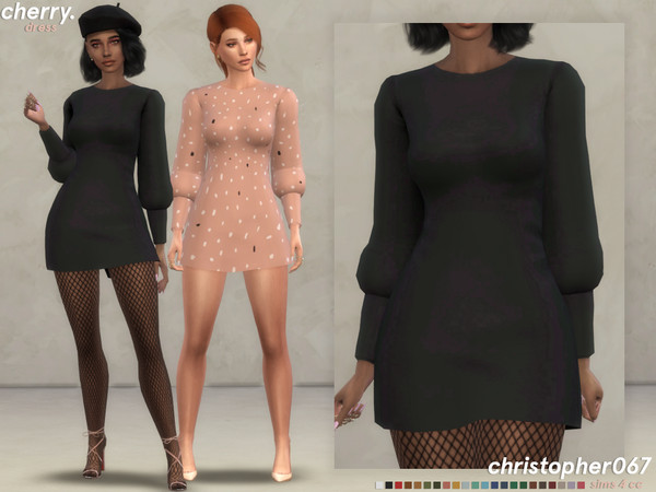 Cherry Dress by Christopher067 at TSR image 3319 Sims 4 Updates