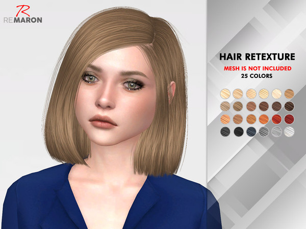 Sims 4 Azure Hair Retexture by remaron at TSR