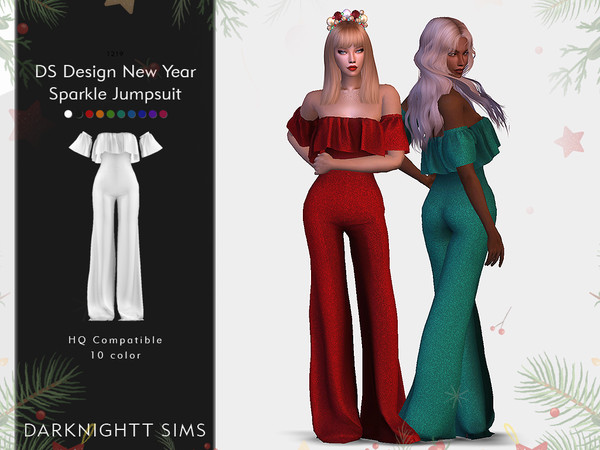 Sims 4 DS Design New Year Sparkle Jumpsuit by DarkNighTt at TSR
