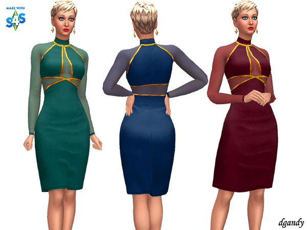 Sims 4 Dress 20191221 by dgandy at TSR