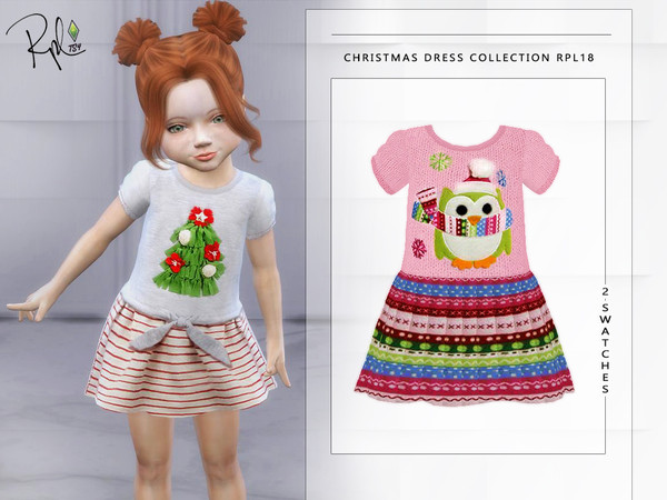 Christmas Dress Collection RPL18 Toddler by RobertaPLobo at TSR image 345 Sims 4 Updates