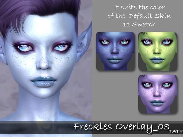 Sims 4 Freckles Overlay 03 by tatygagg at TSR