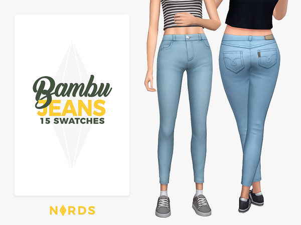 Sims 4 Bambu Jeans by Nords at TSR