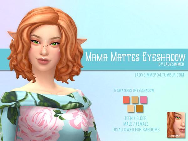 Sims 4 Mama Mattes Eyeshadow by LadySimmer94 at TSR