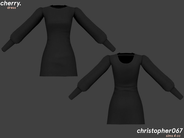 Cherry Dress by Christopher067 at TSR image 3611 Sims 4 Updates