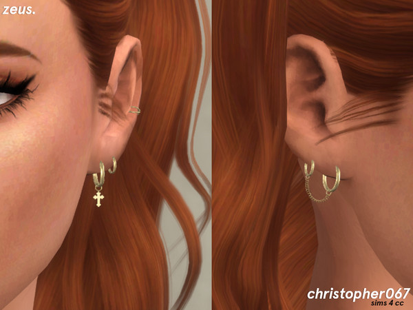 Zeus Earrings by Christopher067 at TSR image 3615 Sims 4 Updates