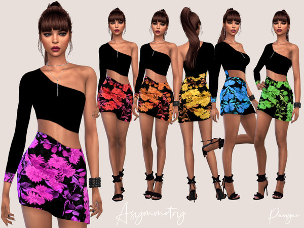 Sims 4 Asymmetry outfit by Paogae at TSR