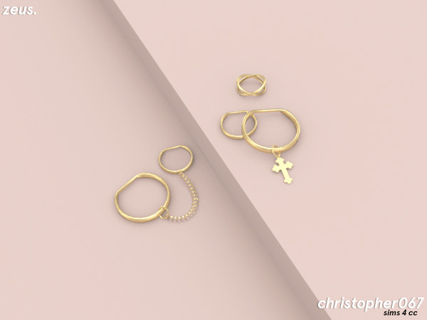 Zeus Earrings by Christopher067 at TSR image 3631 Sims 4 Updates