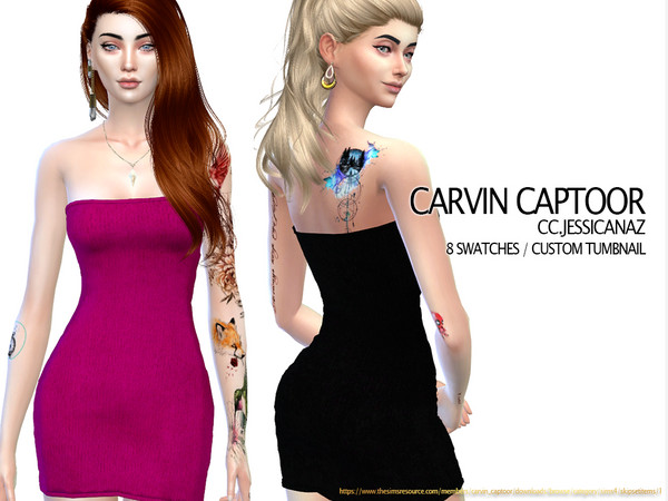 Jessicanaz short dress by carvin captoor at TSR image 3710 Sims 4 Updates