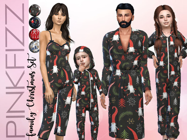 Family Christmas Set by Pinkfizzzzz at TSR image 3713 Sims 4 Updates