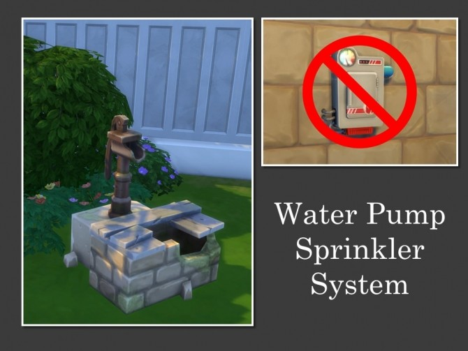 Sims 4 Water Pump Sprinkler System by Teknikah at Mod The Sims