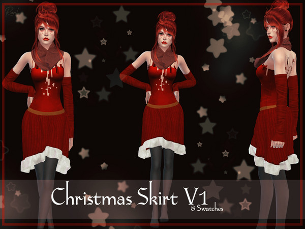 Christmas Skirt V1 by Reevaly at TSR image 387 Sims 4 Updates