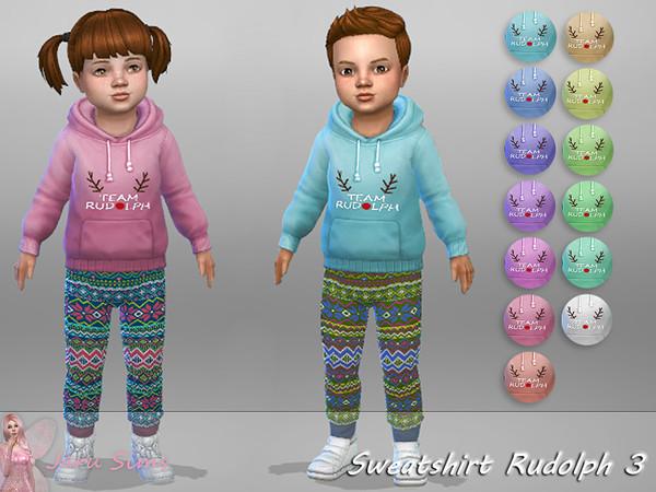 Sims 4 Sweatshirt Rudolph 3 by Jaru Sims at TSR