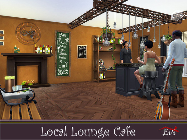 Sims 4 Local Lounge Cafe by evi at TSR