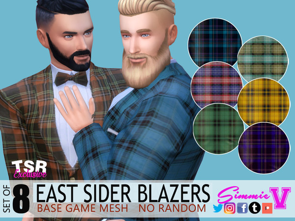 Sims 4 EastSider Blazer with Bowtie by SimmieV at TSR