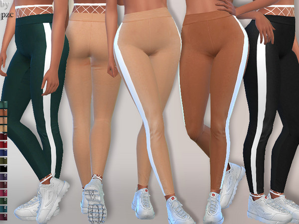 Sims 4 Athletic Leggings by Pinkzombiecupcakes at TSR
