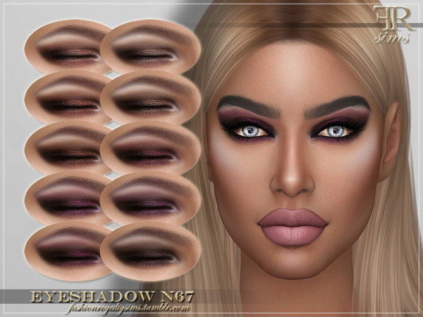 Sims 4 FRS Eyeshadow N67 by FashionRoyaltySims at TSR