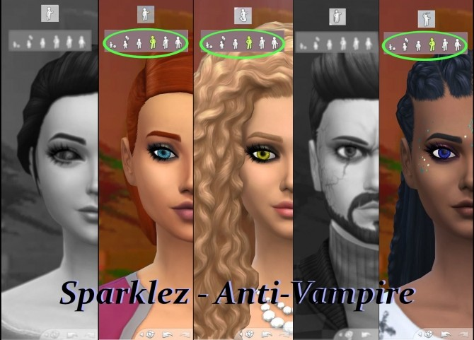 Sims 4 Sparkly Eyes   Human, Mermaid, Spellcaster or Vampire by Serpentia at Mod The Sims