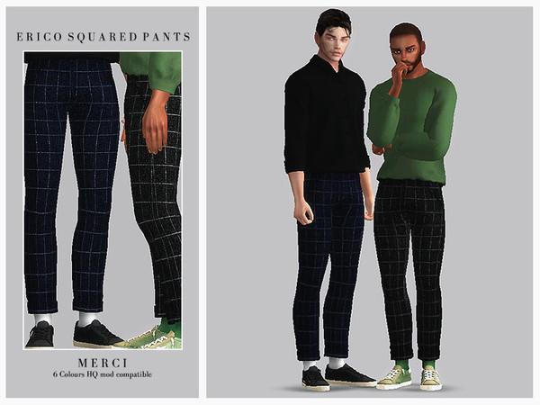Sims 4 Erico Squared Pants by Merci at TSR