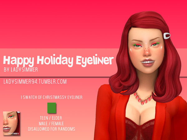 Sims 4 Happy Holiday Eyeliner by LadySimmer94 at TSR