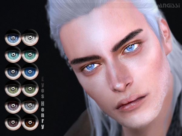 Sims 4 Henry eyes by ANGISSI at TSR