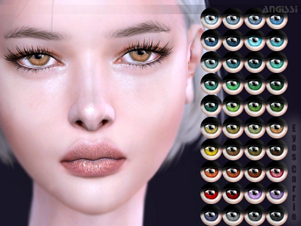 Sims 4 Carrie eyes by ANGISSI at TSR