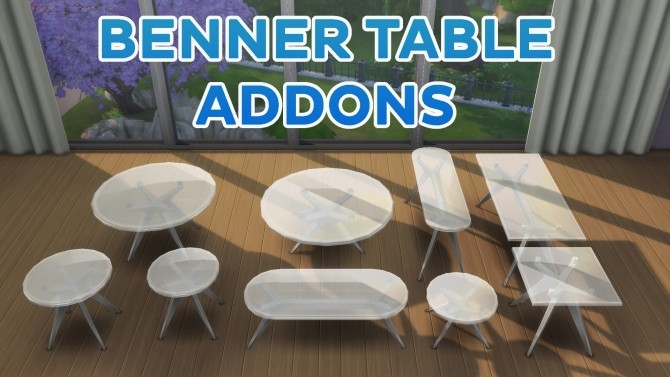 Sims 4 Benner Table Add ons + Recolors by simsi45 at Mod The Sims
