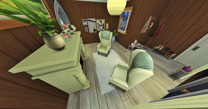 Sims 4 Two story home with inside pool by heikeg at Mod The Sims