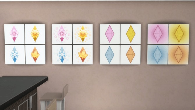 Sims 4 Seasonal Plumbobs Painting by Teknikah at Mod The Sims