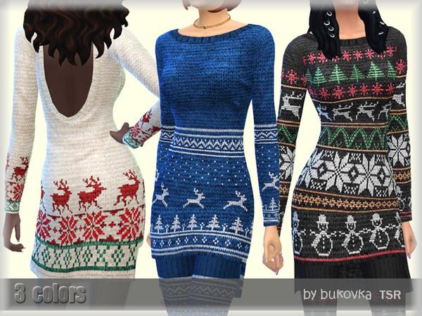 Christmas Dress by bukovka at TSR image 439 Sims 4 Updates