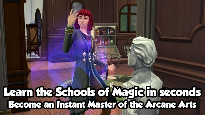 Sims 4 The Tome of the Fourth Sage (Ultimate Spellbook) by Myfharad at Mod The Sims