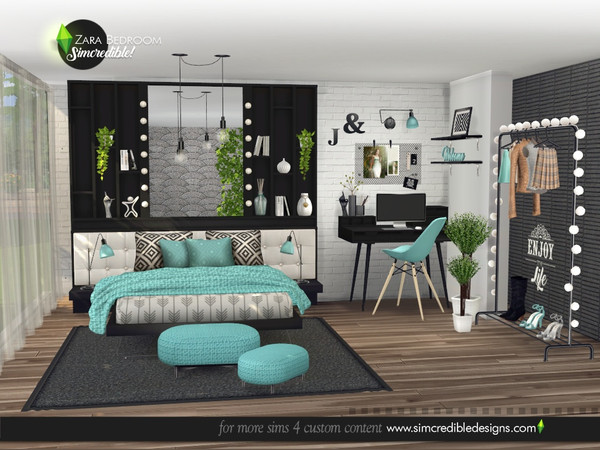Zara Bedroom by SIMcredible at TSR image 4416 Sims 4 Updates