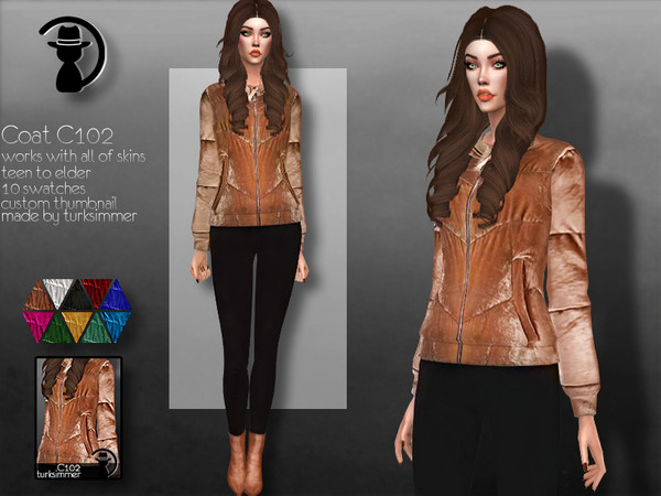 Sims 4 Coat C102 by turksimmer at TSR