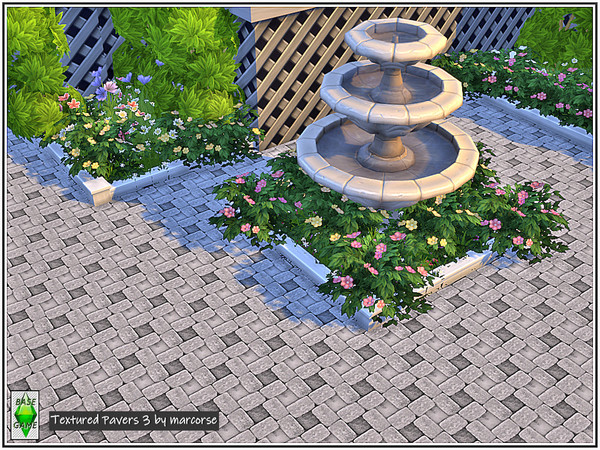 Sims 4 Textured Pavers by marcorse at TSR