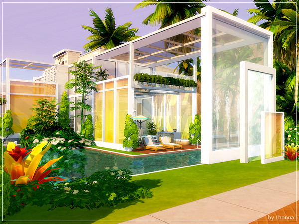 Sims 4 More Glass villa by Lhonna at TSR