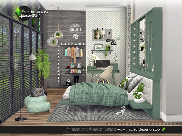 Zara Bedroom by SIMcredible at TSR image 4516 Sims 4 Updates