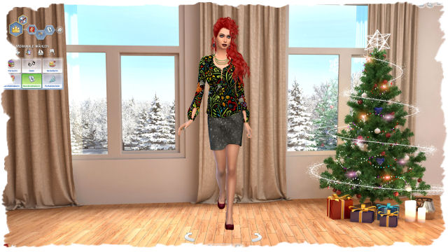 4x Christmas CAS background by Chalipo at All 4 Sims image 4541 Sims 4 Updates