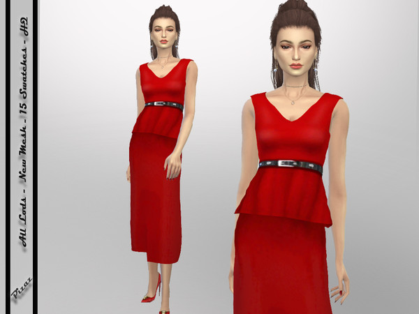 Sims 4 Classic Dress by pizazz at TSR
