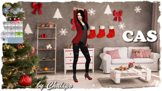 4x Christmas CAS background by Chalipo at All 4 Sims image 4571 Sims 4 Updates