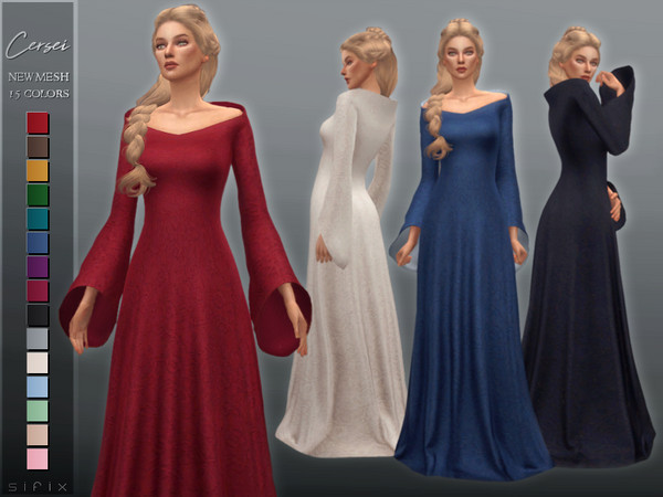 Sims 4 Cersei Dress by Sifix at TSR