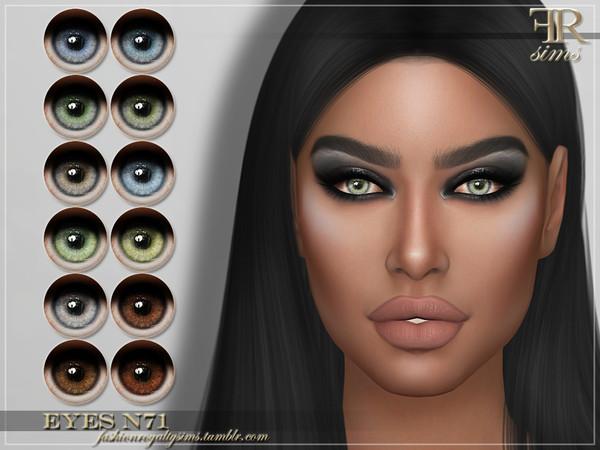 Sims 4 FRS Eyes N71 by FashionRoyaltySims at TSR