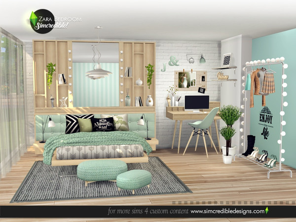 Zara Bedroom by SIMcredible at TSR image 4616 Sims 4 Updates