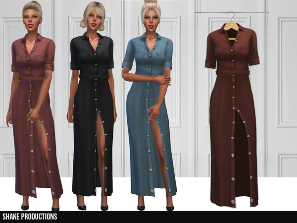 Sims 4 352 Dress by ShakeProductions at TSR