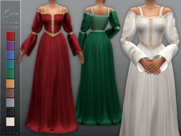 Sims 4 Eira Dress by Sifix at TSR