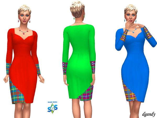 Sims 4 Holiday Dress 20191209 by dgandy at TSR