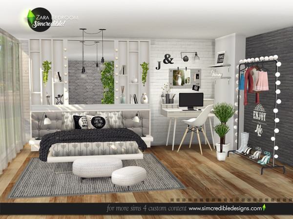 Zara Bedroom by SIMcredible at TSR image 4716 Sims 4 Updates