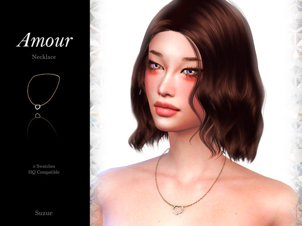 Amour Necklace by Suzue at TSR image 475 Sims 4 Updates