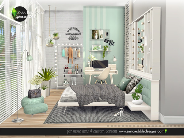 Zara Bedroom by SIMcredible at TSR image 4816 Sims 4 Updates