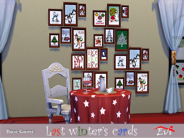 Sims 4 Last winter cards by evi at TSR