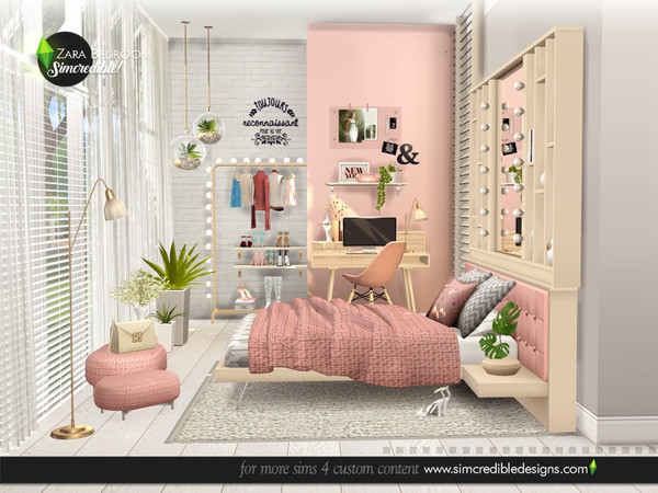 Zara Bedroom by SIMcredible at TSR image 4916 Sims 4 Updates